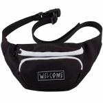 Welcome Scrawl Waist Bag Hip Pack-Black/White-OS