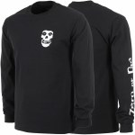 Zero Fiend Skull Long Sleeve T Shirt-Black-XL