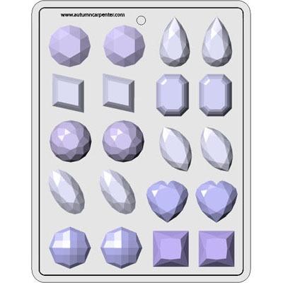 """1 1/2"""" Gems Asst. Hard Candy Mold"""