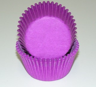 """1-1/4"""" X 2"""" Purple Baking Cups 50 Count"""