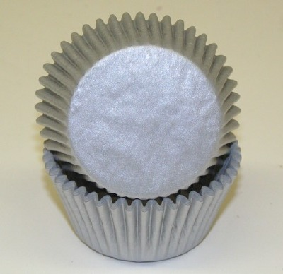 """1-1/4"""" X 2"""" Silver Baking Cups 50 Count"""