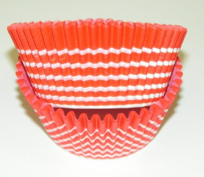 "1-1/4""X2"" Circle White and Orange Baking Cups 500 Count"