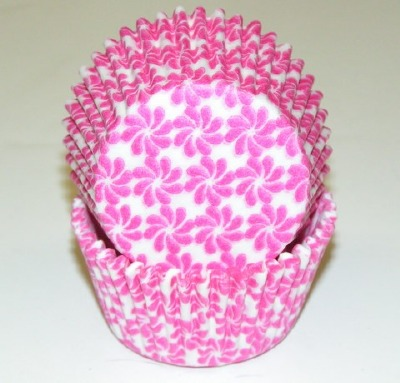 "1-1/4""X2"" Pinwheel Pink Baking Cups 500 Count"