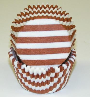 "1-1/4""X2"" Stripe Rust Baking Cups 500 Count"