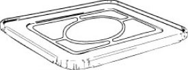 1/2 Steam Tray - Cover