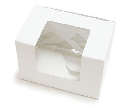 1/2 LB White Egg Box W/Window