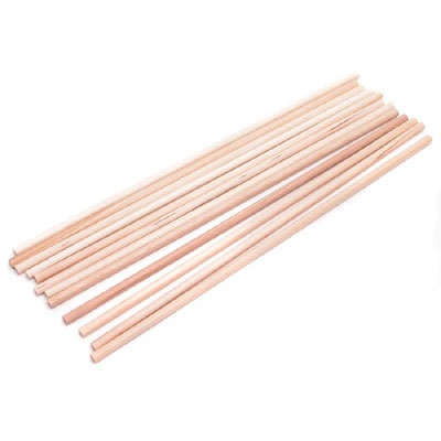 """1/4"""" Wooden Dowel Rods 12 CT"""