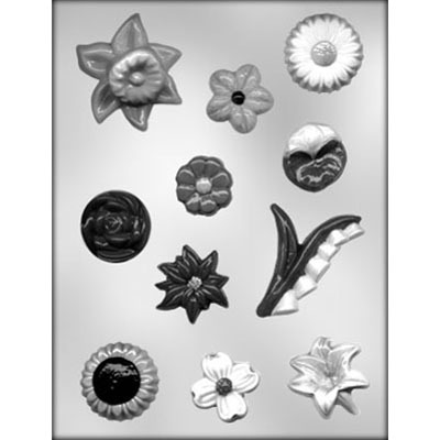 Assorted Flowers Mold (11)