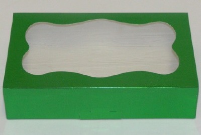 1 Pound Green Cookie Box with Window