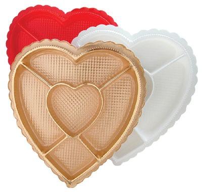 1 LB Heart Section Box White
