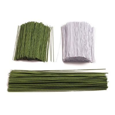 """1 LB Green Covered Wire #22 12"""""""