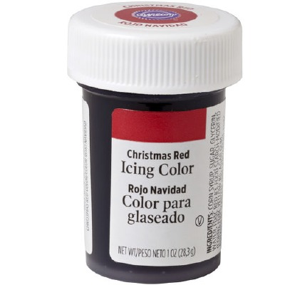 1 Oz Icing Color Christmas Red