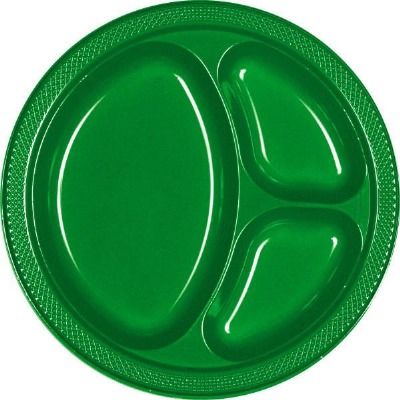 "10.25"" Divided Plate 20 CT Fest Green"