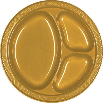 "10.25"" Divided Plate 20 CT Gold"