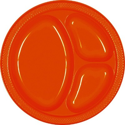 "10.25"" Divided Plate 20 CT Orange"