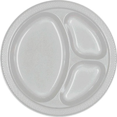"""10.25"""" Divided Plate 20 CT Silver"""