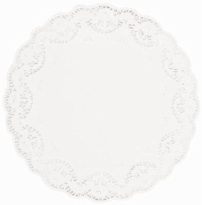 """14.5"""" White Doilies Round 4 CT"""