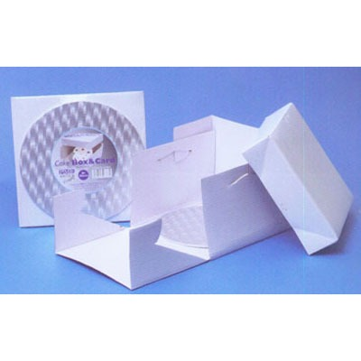 "14"" PME Square Cake Card & Box"