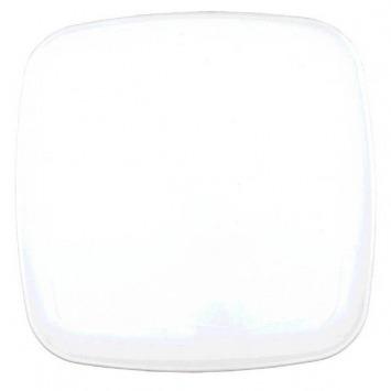 """14"""" Sq Platter Plastic White"""