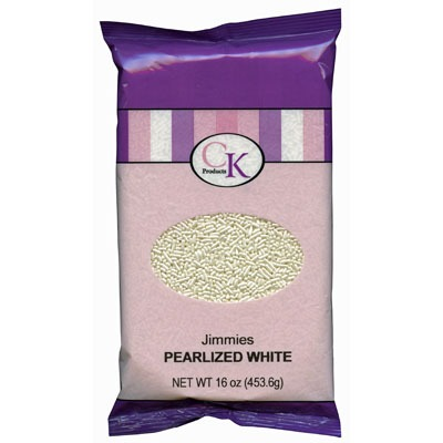 16 OZ Pearlized Jewled White