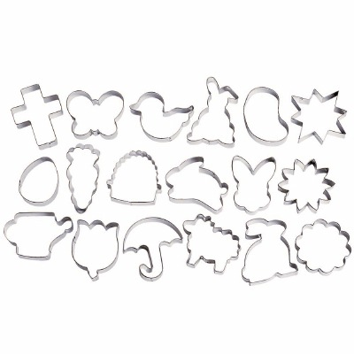 18-PC Easter Cookie Cutter Set