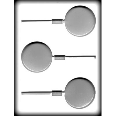 """2 1/2""""  Round Lolly Hard Candy Mold (3)"""