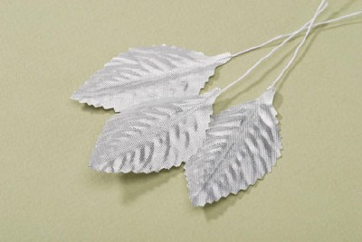 "2.5""  Rose Leaf - Silver 12 CT"
