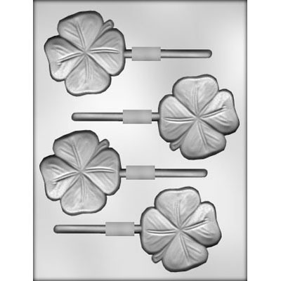 "2.75"" 4-Leaf Clover Lolly (4)"