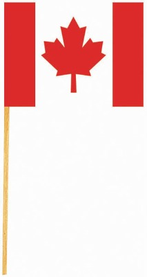 """2.75"""" Canadian Flags 50 CT"""