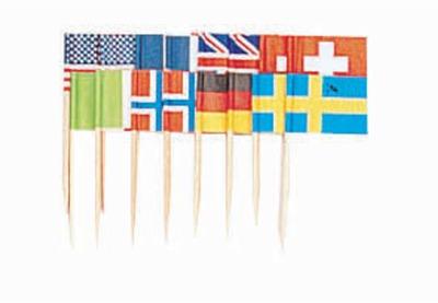 "2.75"" Internationa Flags 50 CT"