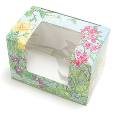 2 LB Egg Box W/Window Print