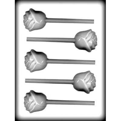"""2"""" Rose Lolly Mold Hard Candy (5)"""