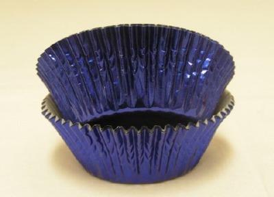 """3/4""""X 1-1/4"""" Royal Blue Foil Baking Cups 500 Count"""