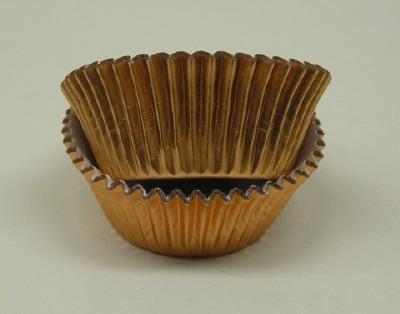 """3/4"""" X 1-1/4"""" Copper Foil Baking Cups 500 Count"""