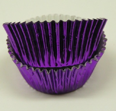 "3/4"" X 1-1/4"" Purple Foil Baking Cups 500 Count"