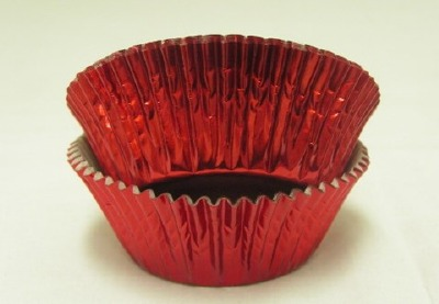 "3/4"" X 1-1/4"" Red Foil Baking Cups 500 Count"