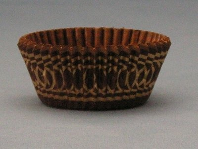 "3/4""X1-3/8"" Brown & Gold Baking Cups 500 Count"