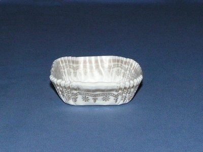 """3/4""""X2"""" Square White & Gold Baking Cups 500 Count"""