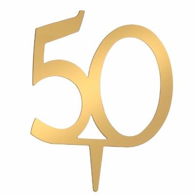 "4"" Monogram Number - ""50"""
