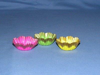 "5/8""X1-1/8"" Assort & Gold Baking Cups 500 Count"