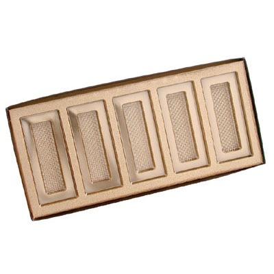 5 Bar Box w/ Gold Insert