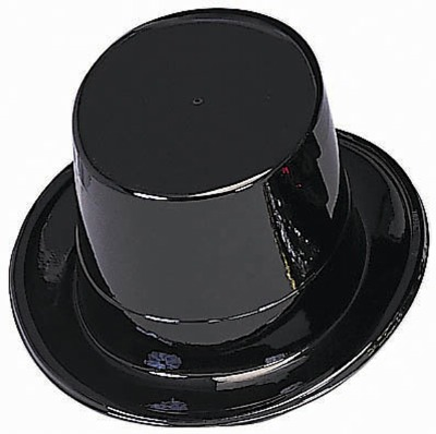 "5"" Black Top Hat"