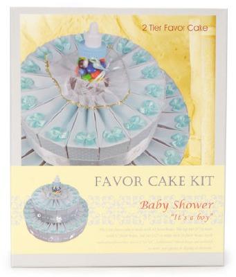 43 PC Baby Boy Favor Cake Kit