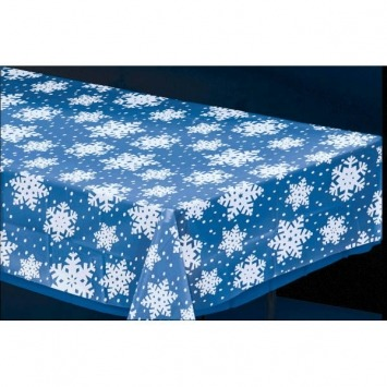 "54""X108 Snowflake Tablecover"
