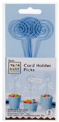 "6"" Card Holder Pick Blue 6 CT"