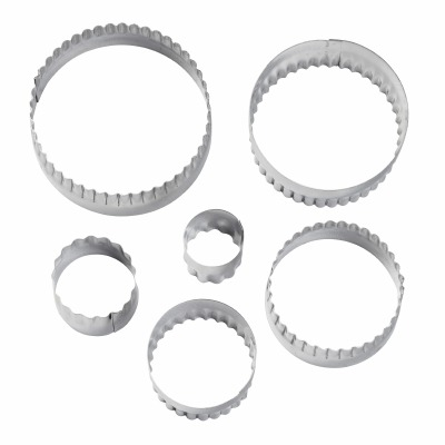 6PC Double Side Cutter Round