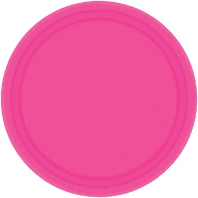 """7"""" Plate 24 CT Bright Pink"""