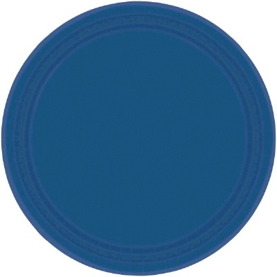 """7"""" Plate 24 CT Navy Blue"""