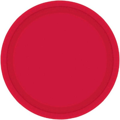 """7"""" Plate 24 CT Red"""