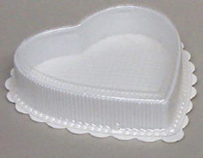 8 OZ Plastic Heart Box White